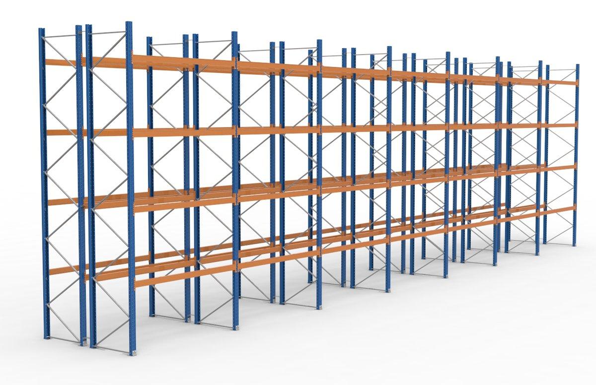 palettenregal 19700 x 5885 mm f r 210 paletten je 1000 kg sieper lagertechnik. Black Bedroom Furniture Sets. Home Design Ideas