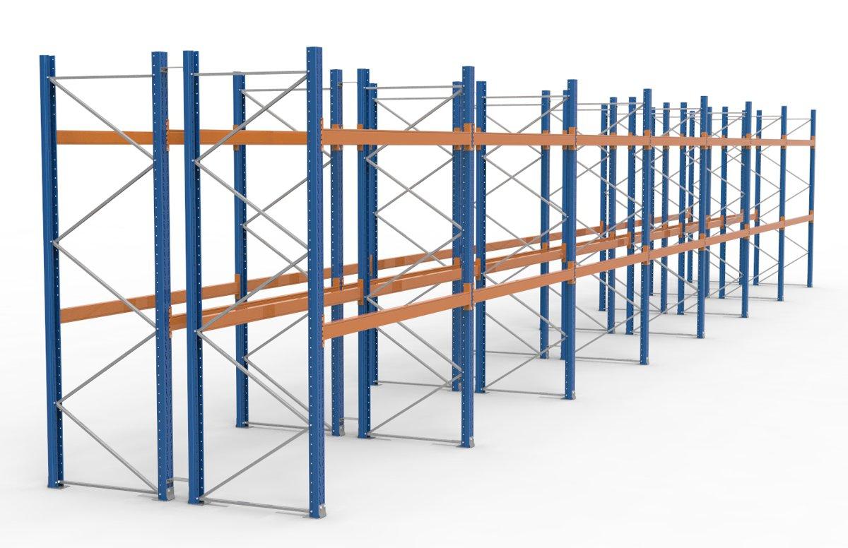 palettenregal 19700 x 3365 mm f r 126 paletten je 1000 kg sieper lagertechnik. Black Bedroom Furniture Sets. Home Design Ideas