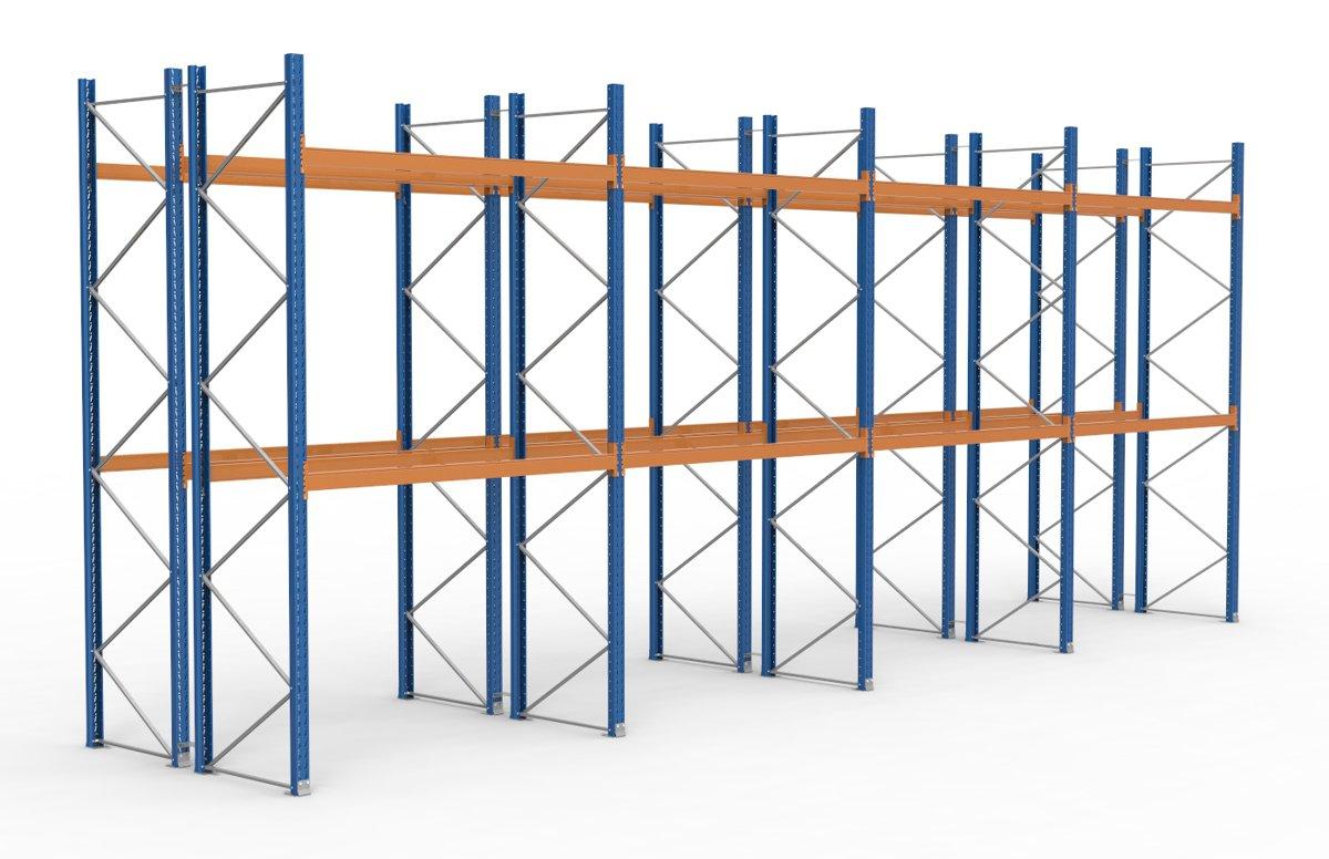 palettenregal 11300 x 4625 mm f r 72 paletten je 1000 kg sieper lagertechnik. Black Bedroom Furniture Sets. Home Design Ideas