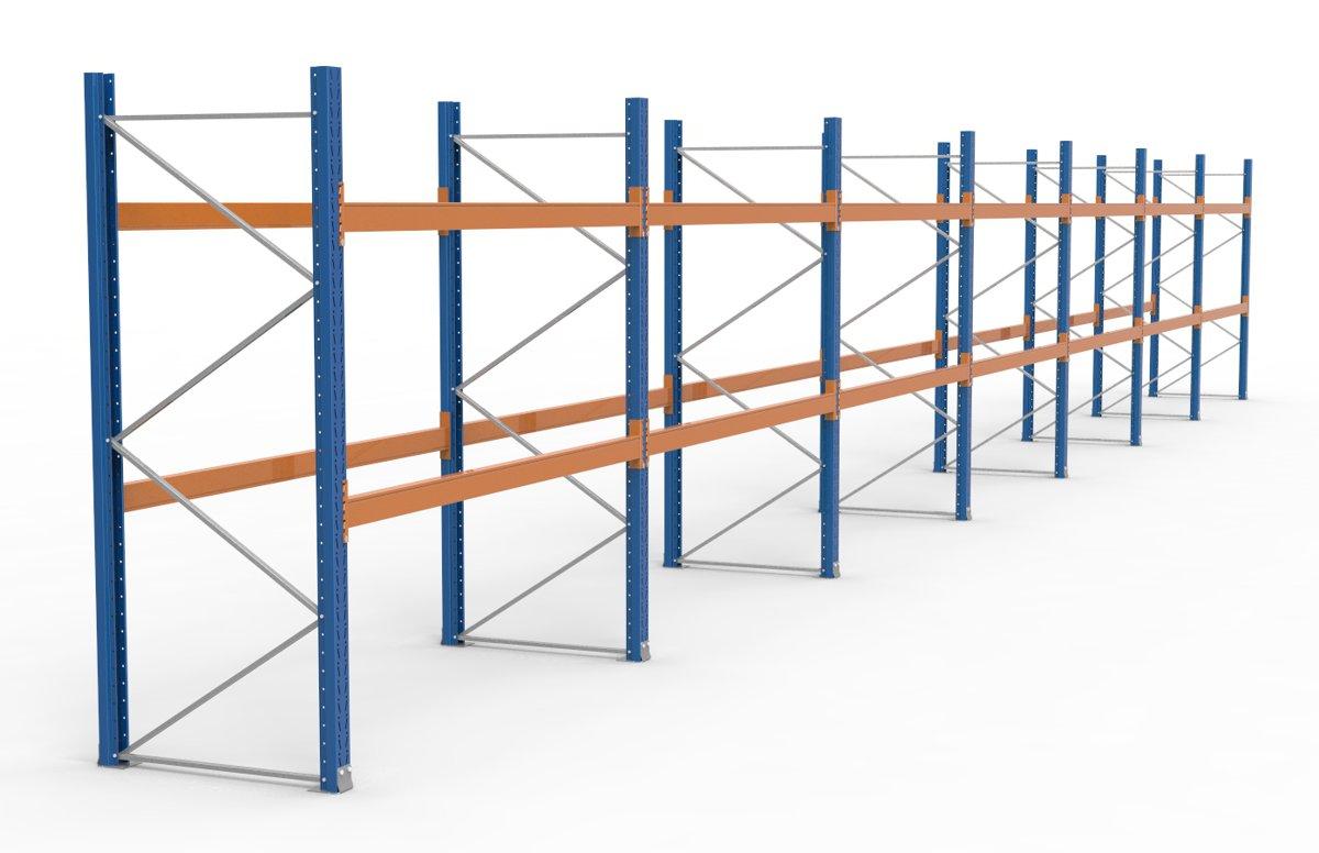 palettenregal 19700 x 2735 mm f r 63 paletten je 1000 kg sieper lagertechnik. Black Bedroom Furniture Sets. Home Design Ideas