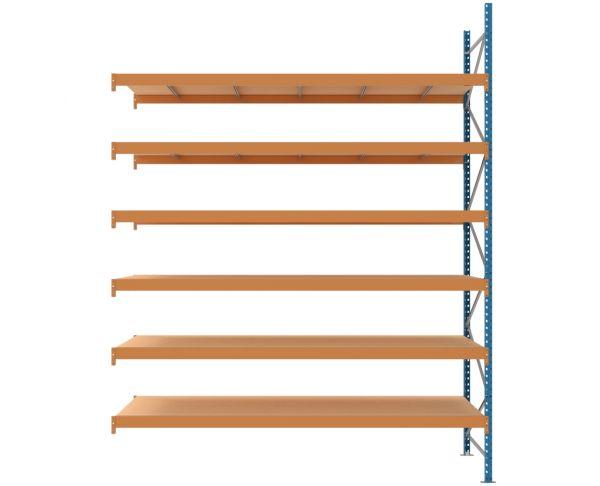Anbauregal L 2700 T 1200 H 3500 mm, mit 6 Ebenen