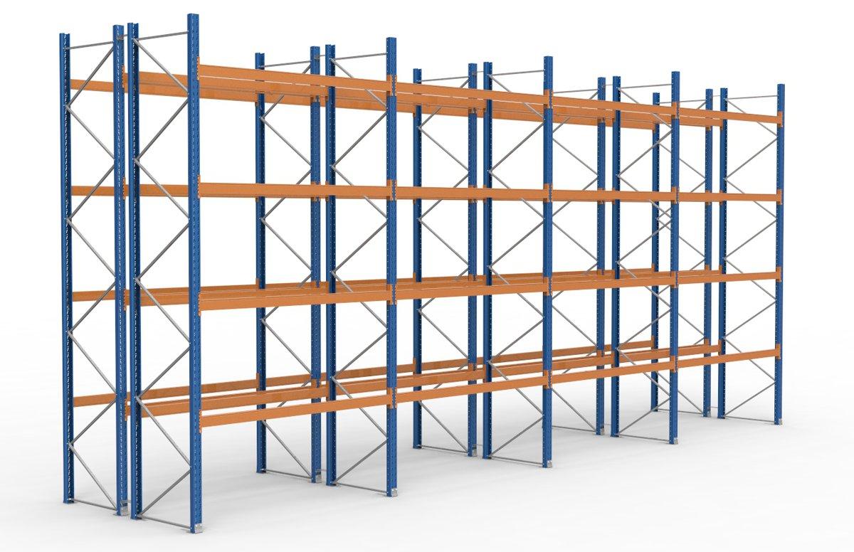 palettenregal 11300 x 5255 mm f r 120 paletten je 1000 kg sieper lagertechnik. Black Bedroom Furniture Sets. Home Design Ideas