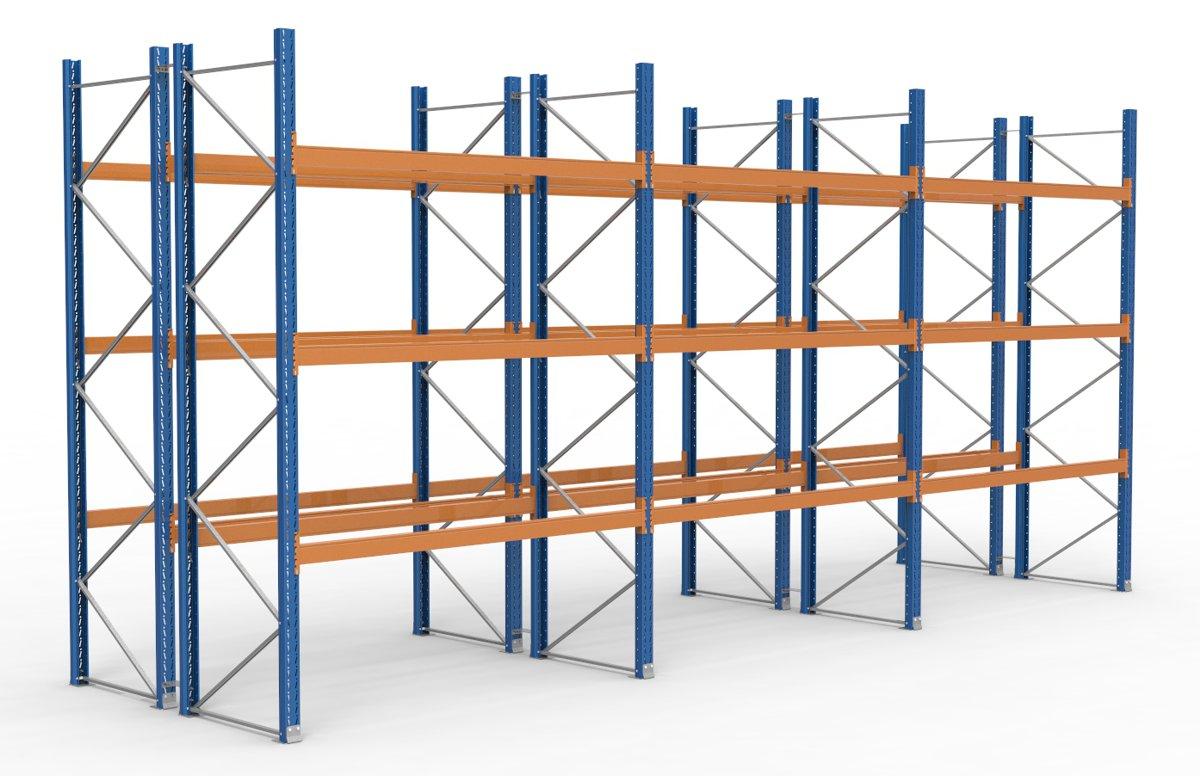 palettenregal 8500 x 3995 mm f r 72 paletten je 1000 kg sieper lagertechnik. Black Bedroom Furniture Sets. Home Design Ideas