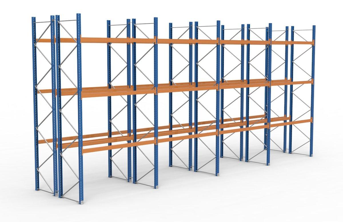 palettenregal 11300 x 5255 mm f r 96 paletten je 1000 kg sieper lagertechnik. Black Bedroom Furniture Sets. Home Design Ideas