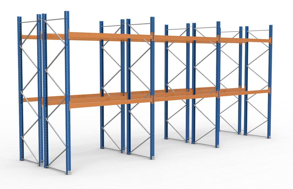 palettenregal 8500 x 3995 mm f r 54 paletten je 1000 kg sieper lagertechnik. Black Bedroom Furniture Sets. Home Design Ideas