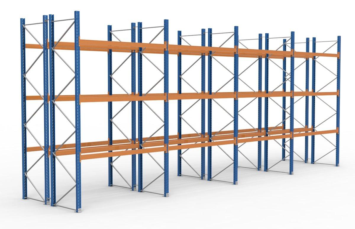 palettenregal 11300 x 4625 mm f r 96 paletten je 1000 kg sieper lagertechnik. Black Bedroom Furniture Sets. Home Design Ideas