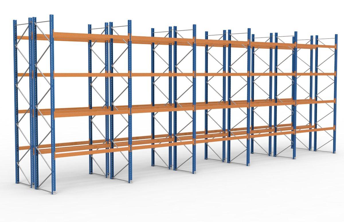 palettenregal 14100 x 5255 mm f r 150 paletten je 1000 kg sieper lagertechnik. Black Bedroom Furniture Sets. Home Design Ideas