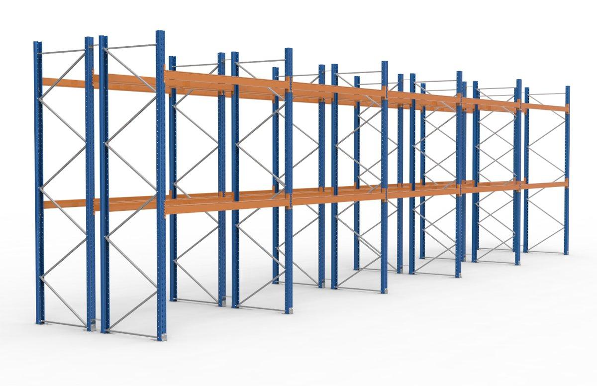 palettenregal 14100 x 3995 mm f r 90 paletten je 1000 kg sieper lagertechnik. Black Bedroom Furniture Sets. Home Design Ideas