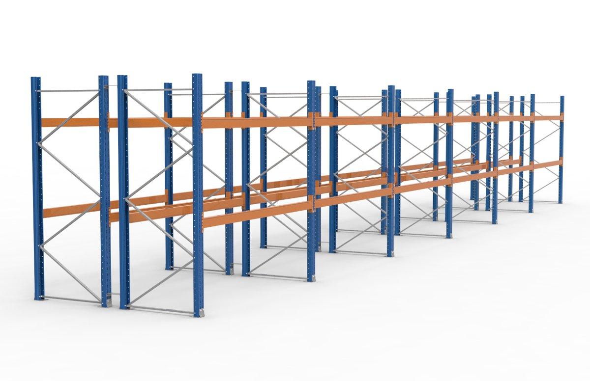 palettenregal 16900 x 2735 mm f r 108 paletten je 1000 kg sieper lagertechnik. Black Bedroom Furniture Sets. Home Design Ideas
