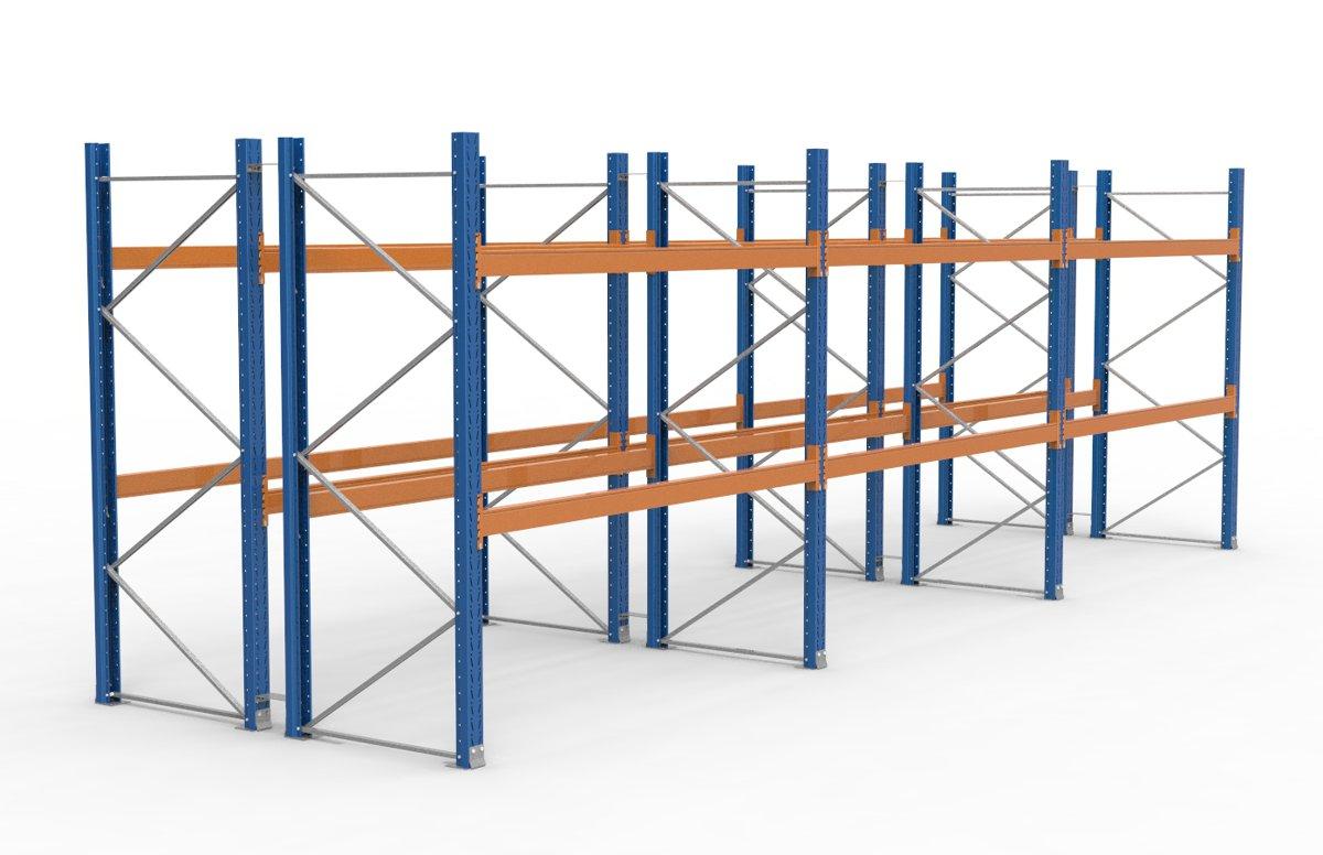 palettenregal 8500 x 2735 mm f r 54 paletten je 1000 kg sieper lagertechnik. Black Bedroom Furniture Sets. Home Design Ideas