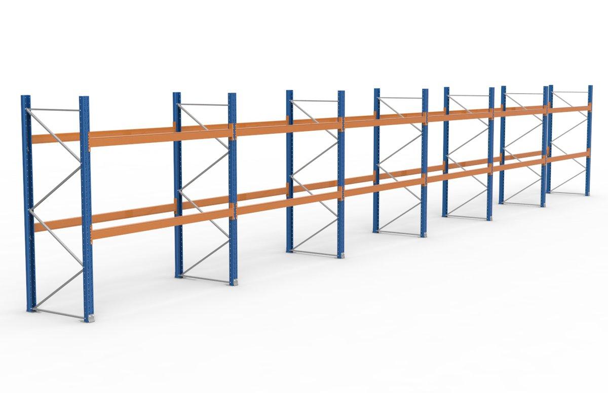 palettenregal 16900 x 2735 mm f r 54 paletten je 1000 kg sieper lagertechnik. Black Bedroom Furniture Sets. Home Design Ideas