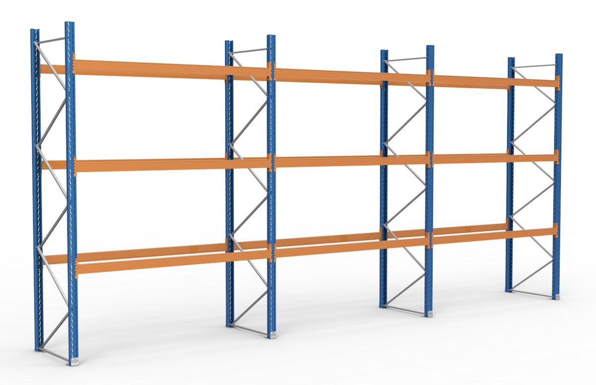 palettenregal 8500 x 3995 mm f r 36 paletten je 1000 kg sieper lagertechnik. Black Bedroom Furniture Sets. Home Design Ideas