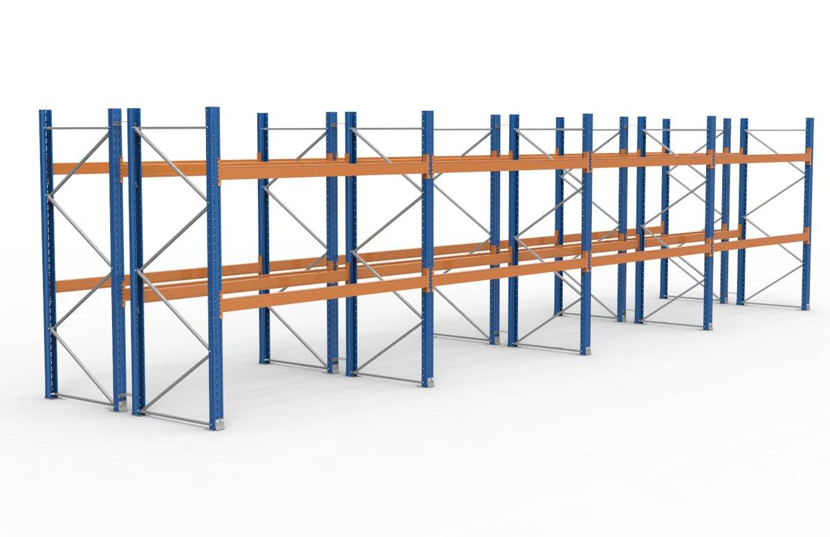 palettenregal 11300 x 2735 mm f r 72 paletten je 1000 kg sieper lagertechnik. Black Bedroom Furniture Sets. Home Design Ideas